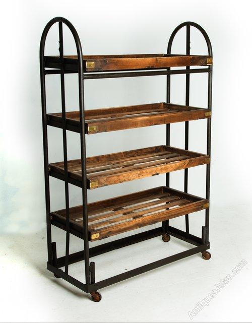 vintage industrial 1940 s factory shoe rack