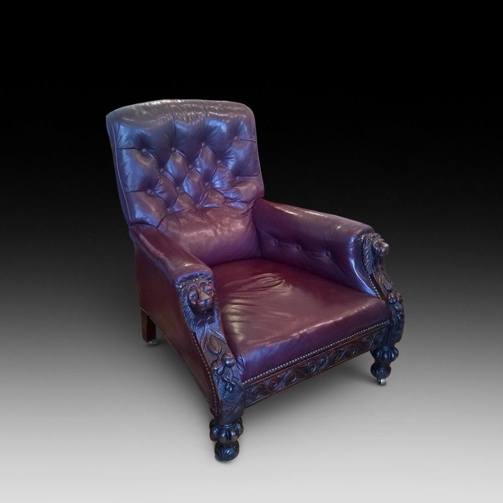 Victorian Oak Arm Chair Antiques Atlas