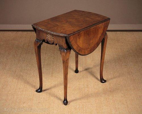 george ii style walnut drop leaf side table c 1930