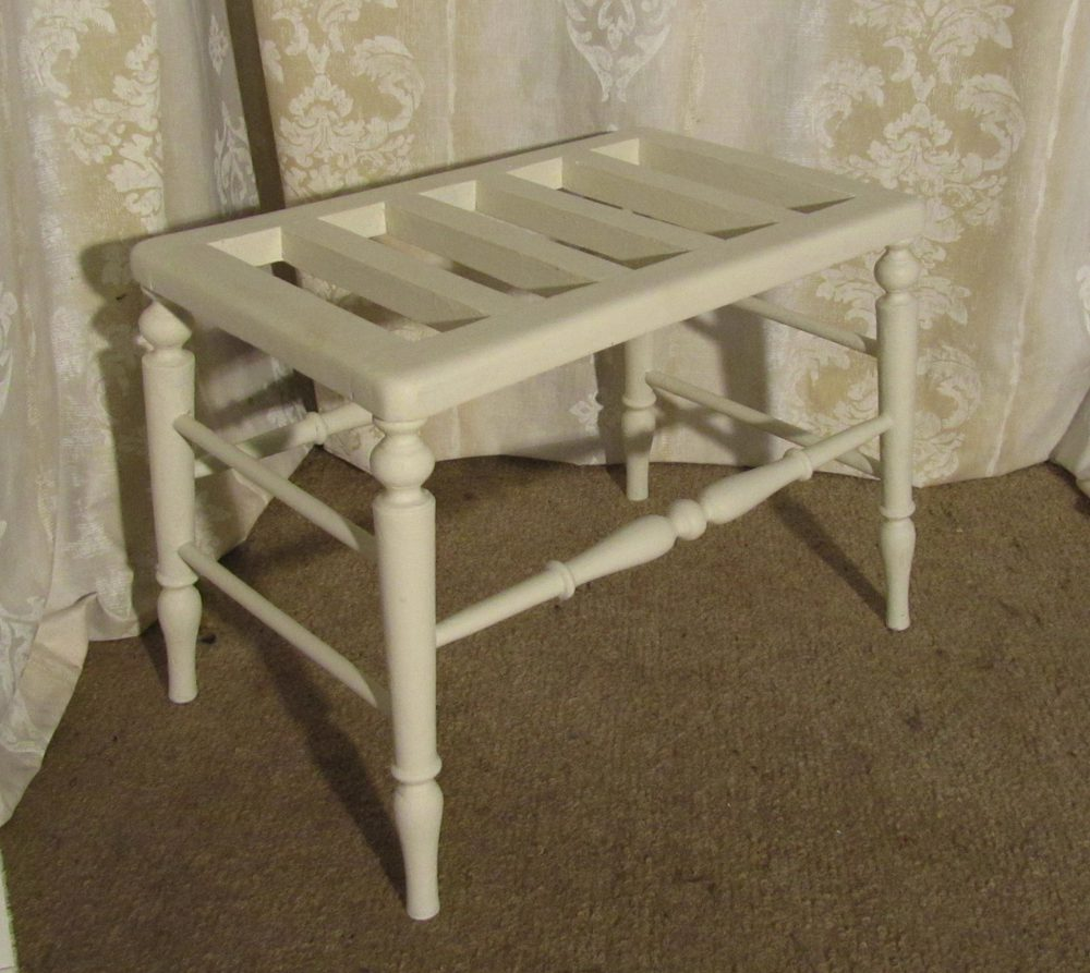 victorian painted luggage rack