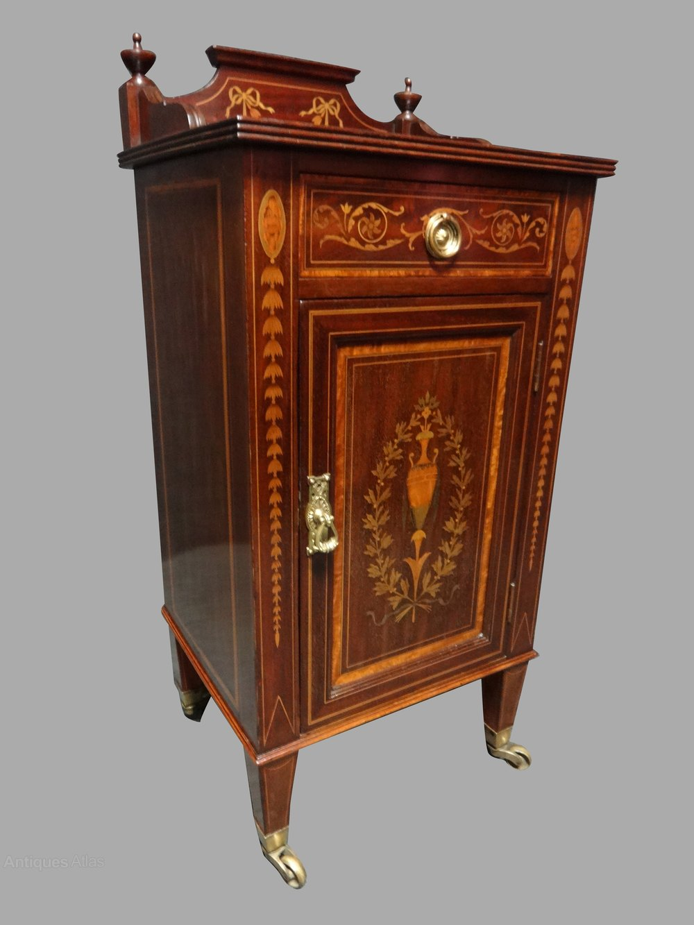Lovely Inlaid Cabinet By Maple And Co - Antiques Atlas on Maple Cabinets  id=89737