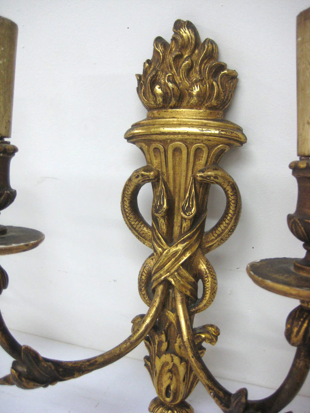 Antiques Atlas - Pair Of Carved Wood Wall Sconces on Wood Wall Sconces id=63072