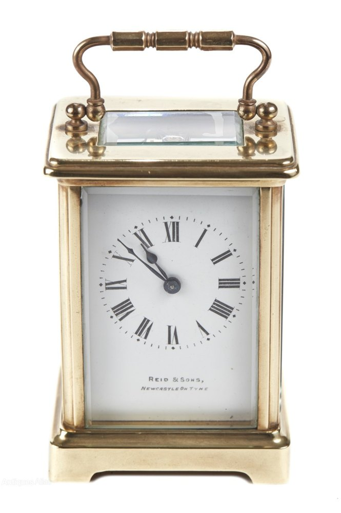 Antique Brass Carriage Clock
