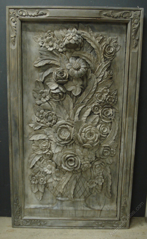 Antiques Atlas Large Carved Wood Decorative Panel