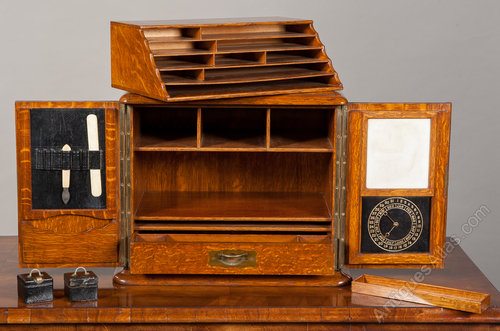 Antiques Atlas Oak Stationary CabinetWriting Box