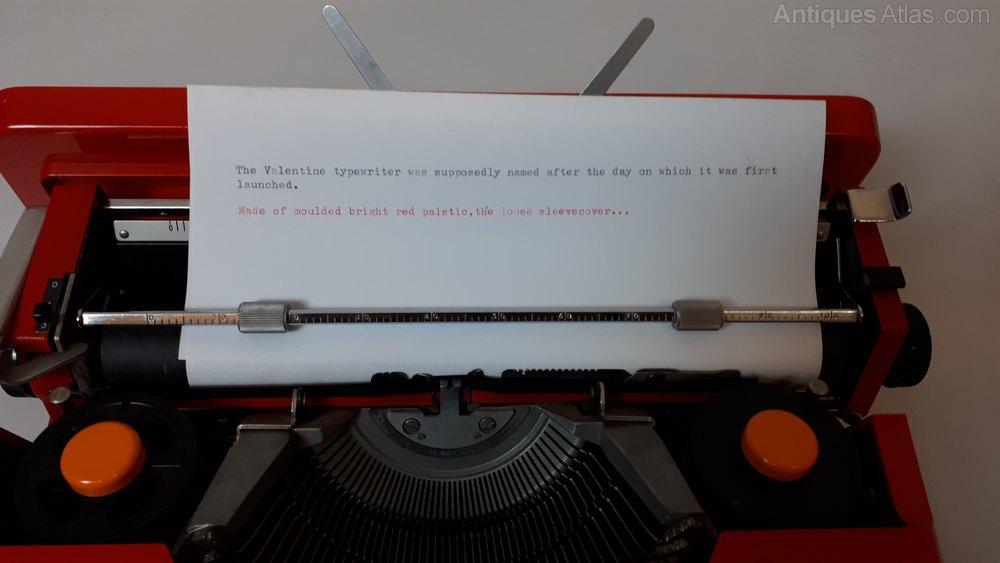 Antiques Atlas Olivetti Valentine Typewriter