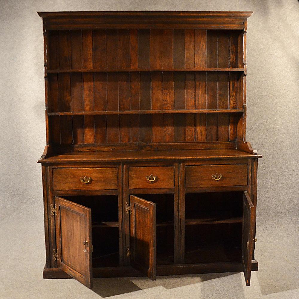Antique Elm Welsh Dresser Country Kitchen Display