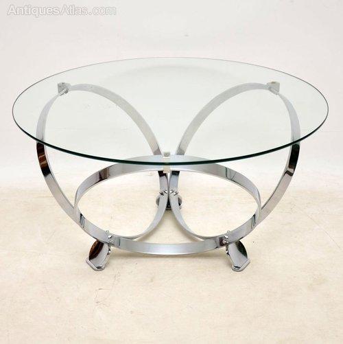 chrome glass coffee table by knut hesterberg