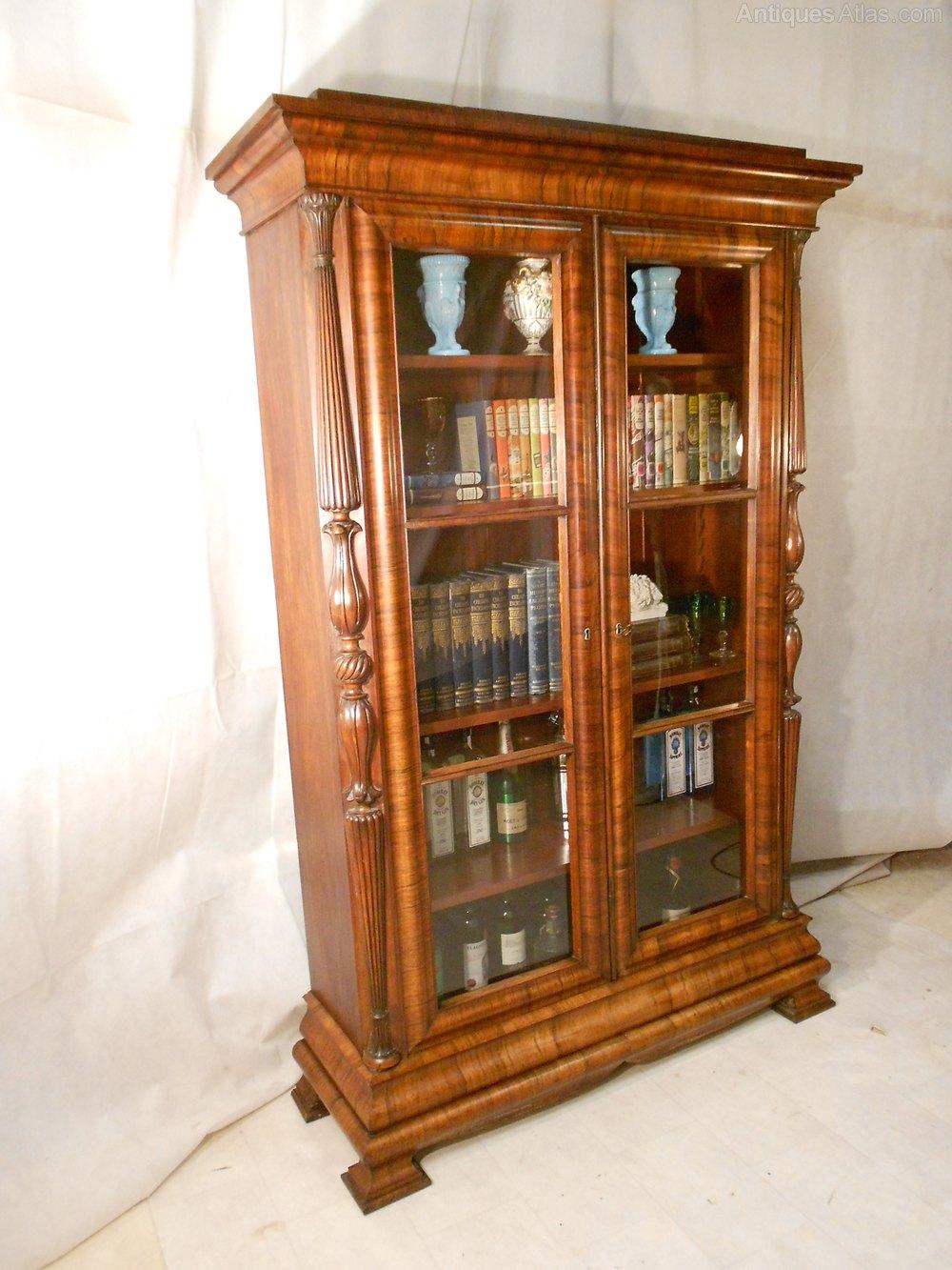 Antique Biedermeier Rosewood Bookcase C1820 30 Antiques