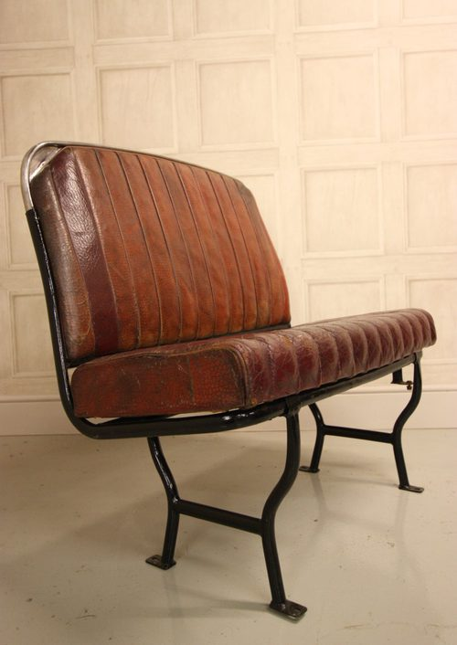 Antiques Atlas 1940 S English Leather Bus Seat