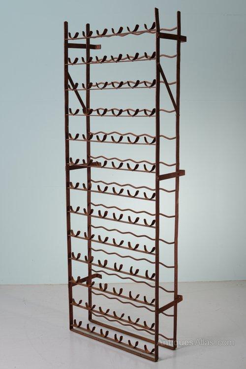 scottish antique wrought iron wine rack