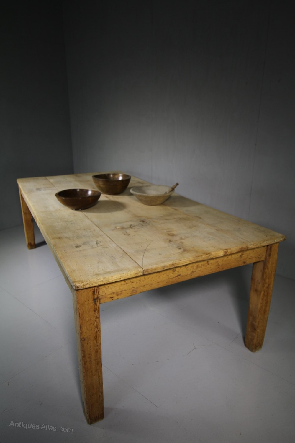 Very Large Antique Sycamore Farmhouse Dining Table Antiques Atlas