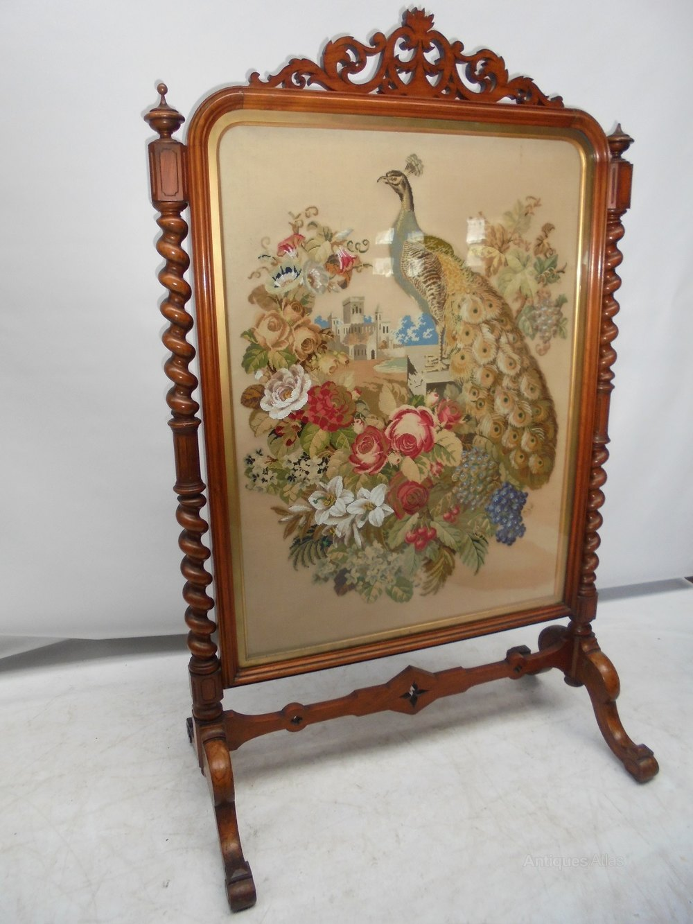 Large 6 High 19th Century Fire Screen Antiques Atlas