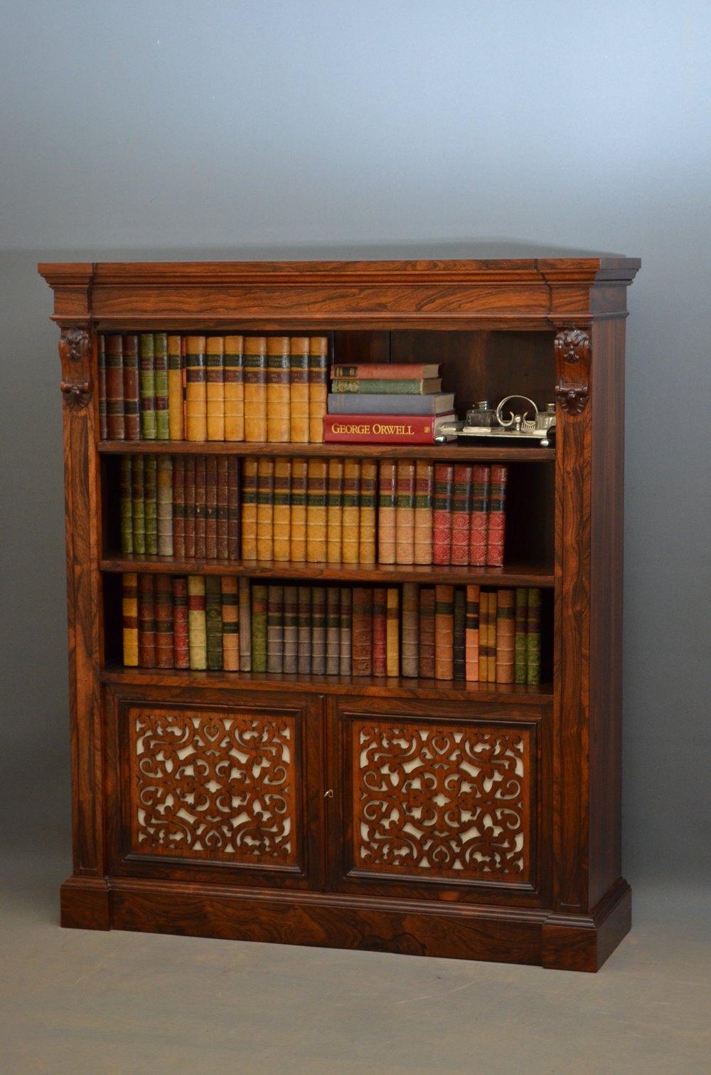 An Exceptional William IV E Victorian Bookcase