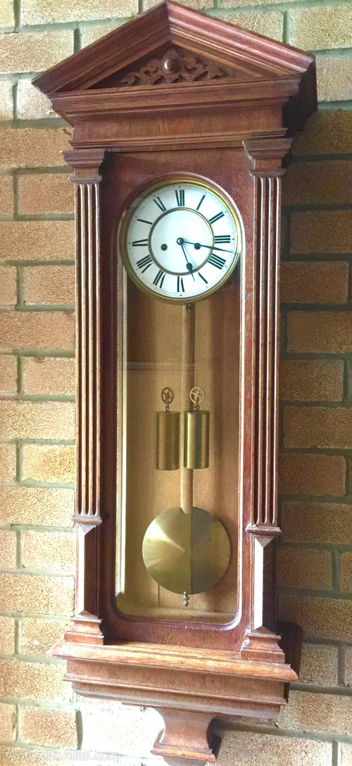 Antiques Atlas Oak Vienna Regulator Wall Clock