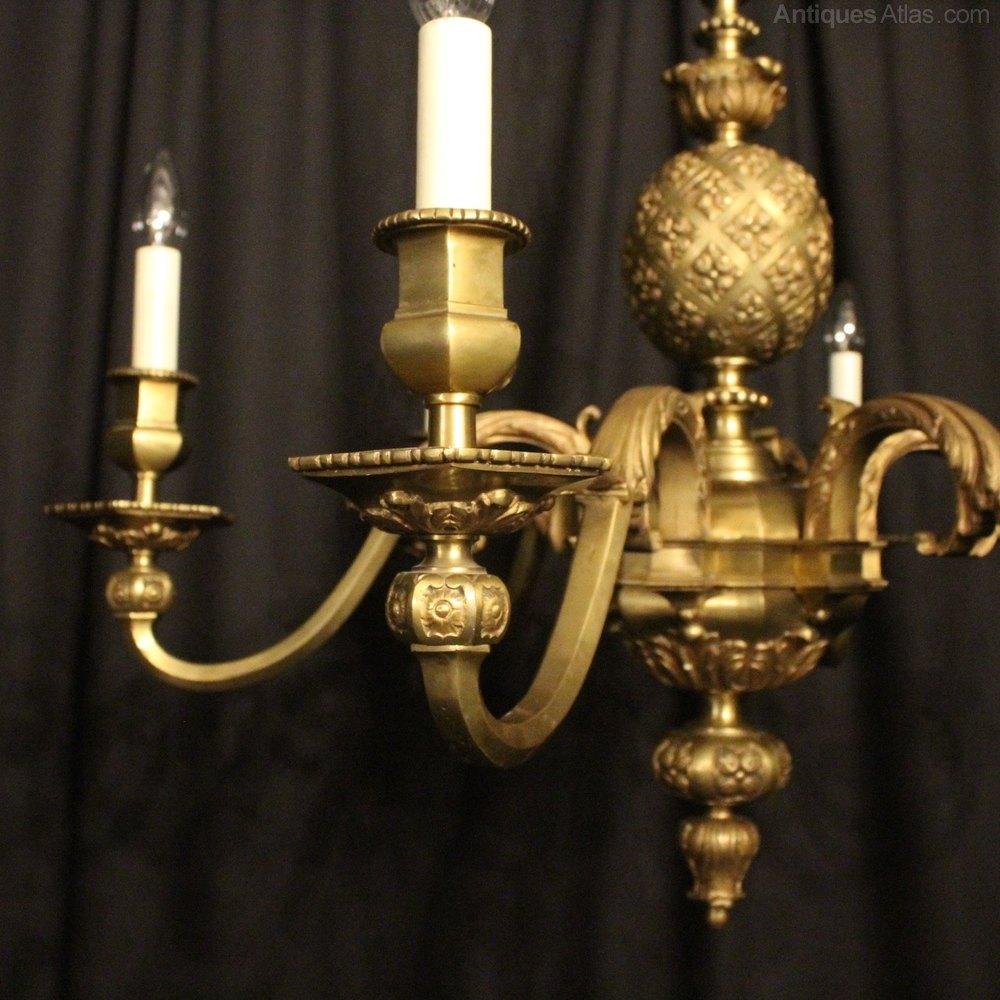 Antiques Atlas French Bronze 6 Light Antique Chandelier