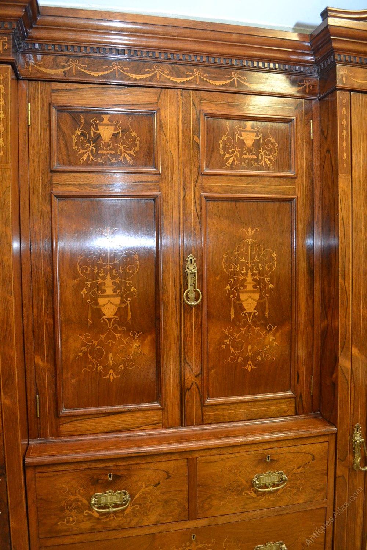 Inlaid Rosewood Bedroom Suite C1890 Antiques Atlas