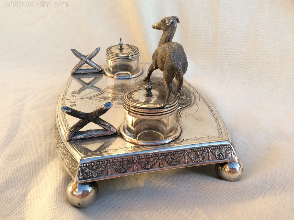 Inkwell Antique Desk Wood