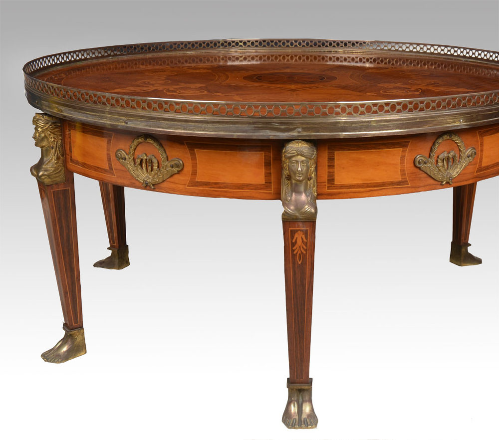 Mahogany Inlaid Coffee Table Antiques Atlas