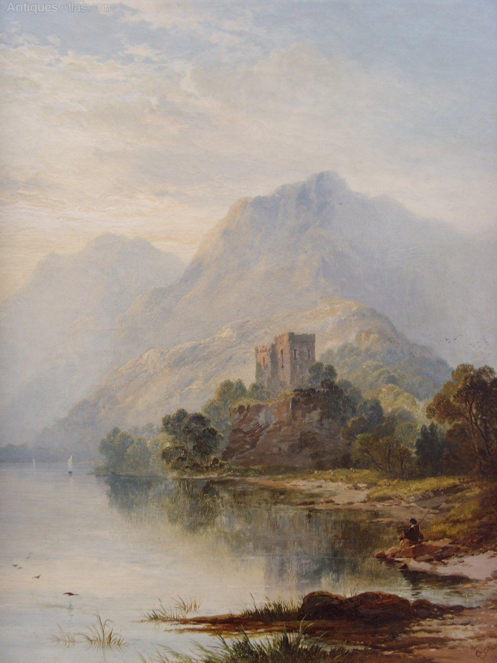 Antiques Atlas George Blackie Sticks Oil Loch Ness 1877