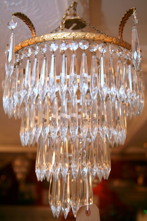 1930s Three Tier Waterfall Chandelier