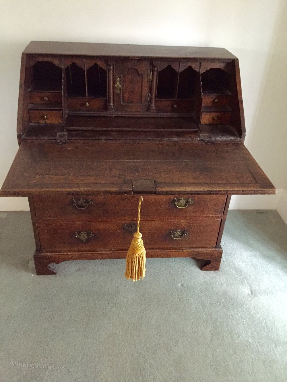 Antique Norfolk Oak Writing Bureau Circa 1740 Antiques Atlas