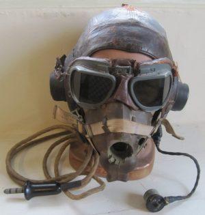 Antiques Atlas  World War II Pilot's Flying Helmet