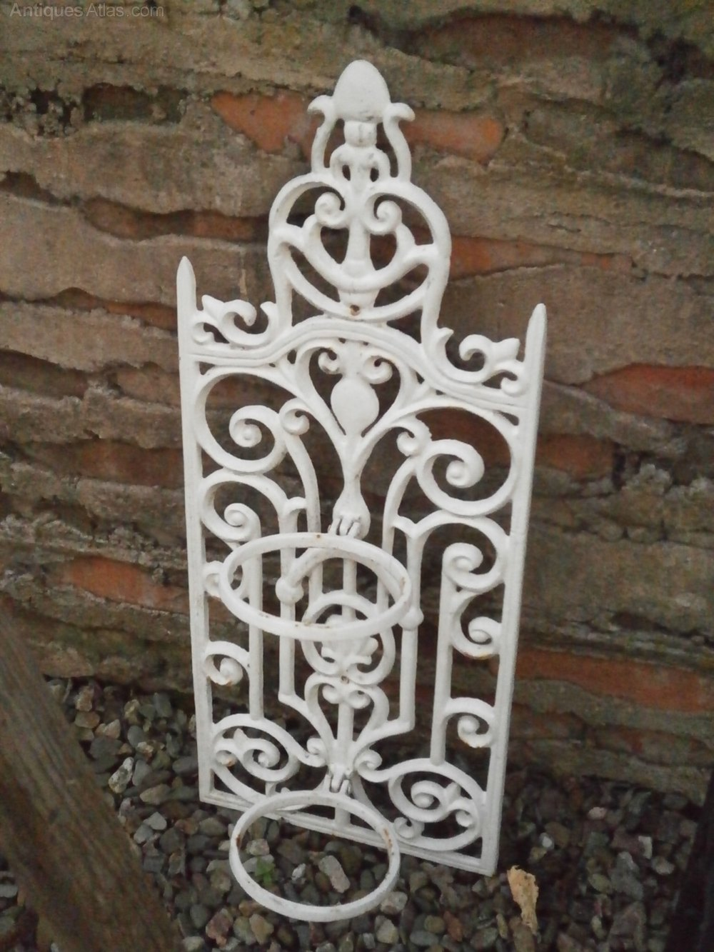 Antiques Atlas - Vintage French Wrought Iron Wall Hanging ... on Iron Wall Vases id=89159