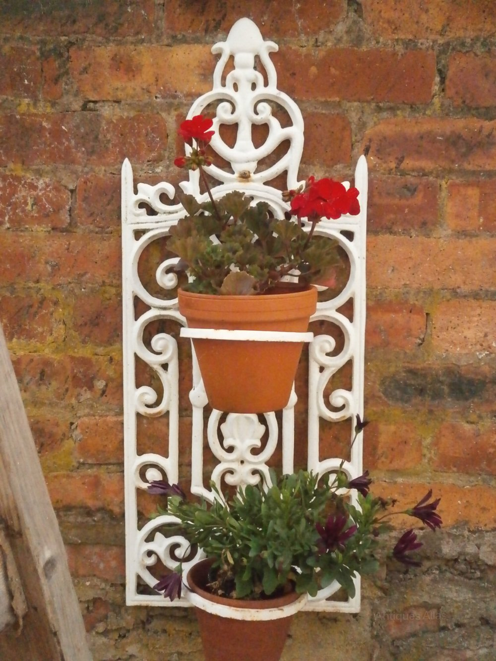 Antiques Atlas - Vintage French Wrought Iron Wall Hanging ... on Iron Wall Vases id=24368