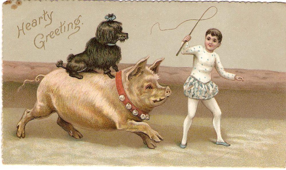 Antiques Atlas Victorian Christmas Card Circa 1880s