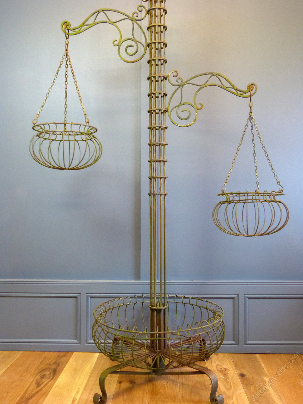 Antiques Atlas - Tall Hanging Basket Stand on Hanging Plant Stand  id=98111