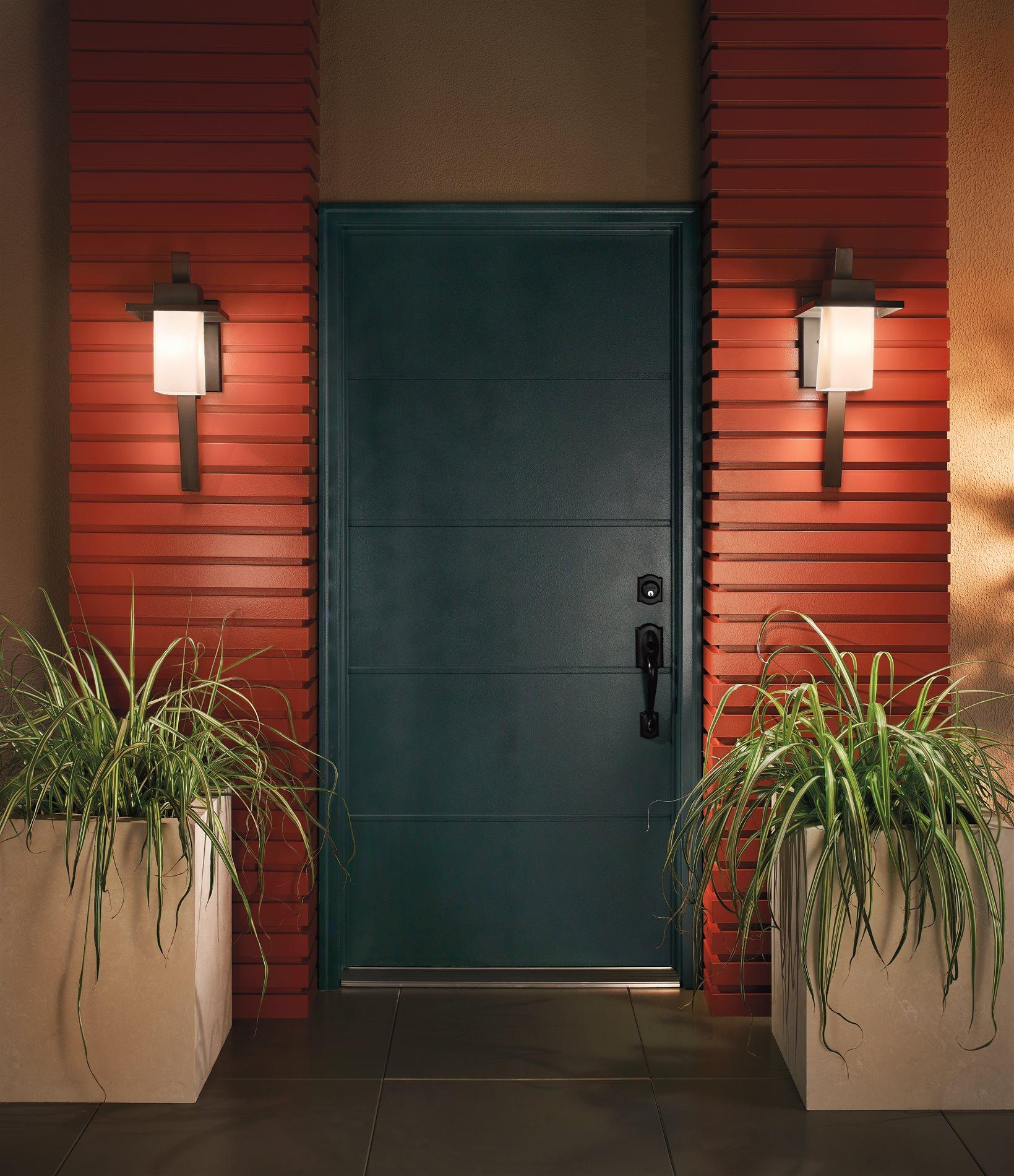 Kichler Lighting 49258AZ Stonebrook Modern / Contemporary ... on Modern Outdoor Sconce Lights id=83489