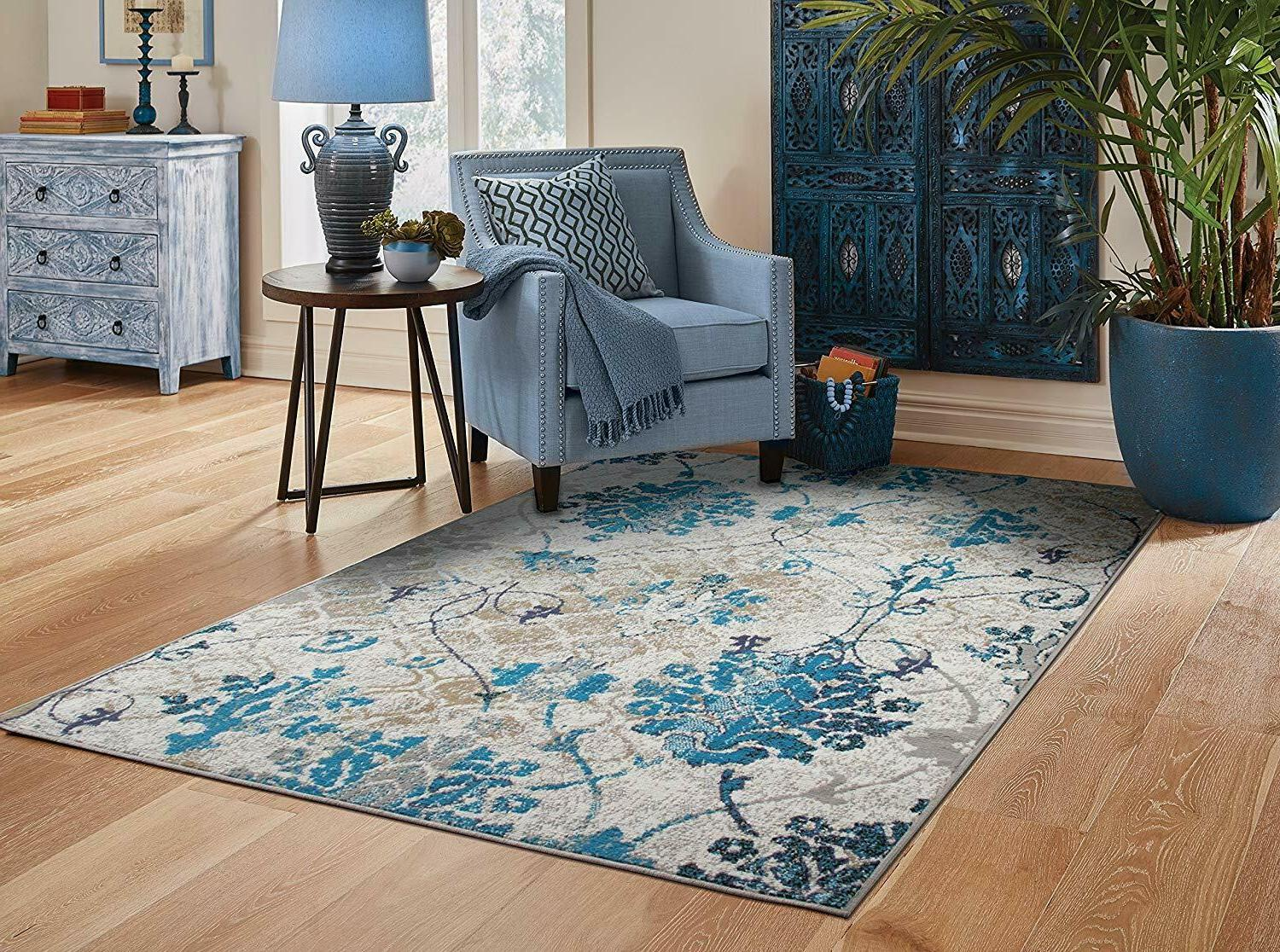 It's likely you and your guests will spend countless hours in this room, discussing and entertaining. Modern Area Rugs 8x10 Contemporary Blue Living Room