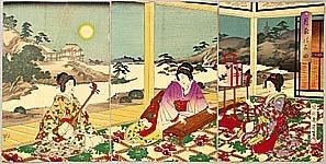 Playing Koto and Shamisen - Chikanobu Toyohara 1838-1912