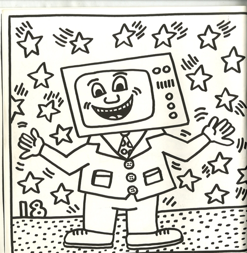 keith haring coloring book | Coloring Page for kids