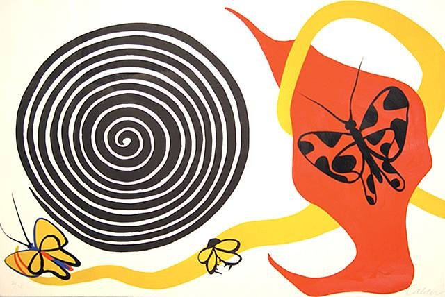 Alexander Calder, Butterflies and Spiral
