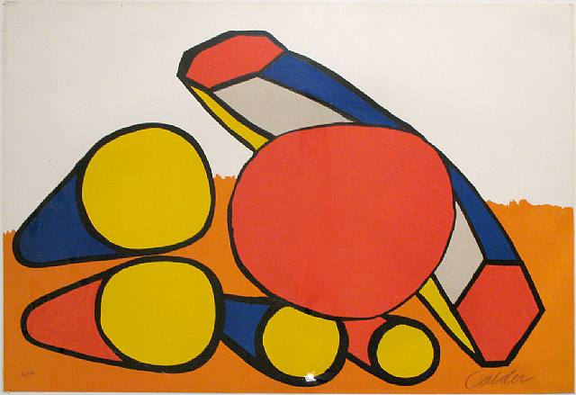 Alexander Calder, Composition with Red, Blue and Yellow Cones