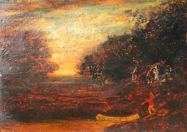 Ralph Albert Blakelock, Western Landscape