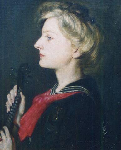 The Musician - Violet Miller - 1906