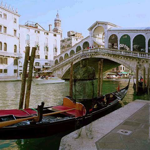 Liu Bolin, Canal Grande, Ponte di Rialto