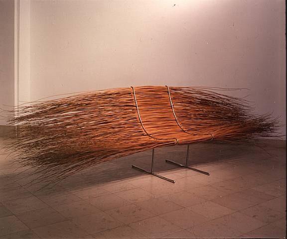 Pawel Grunert: wicker, stainless steel