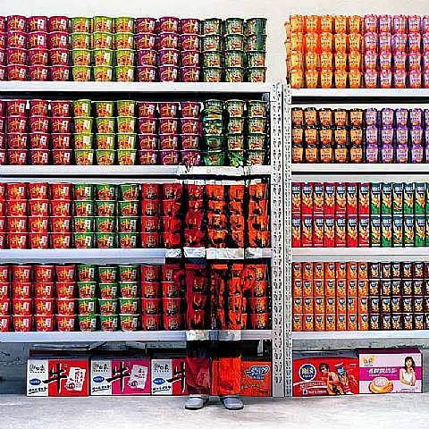 """Liu Bolin, Supermarket (No. 83 from the series """"Hide in the City"""")"""