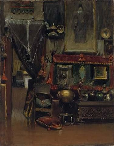Charles Elmer Langley, William Merritt Chase's 10th Street Studio, New York 1895