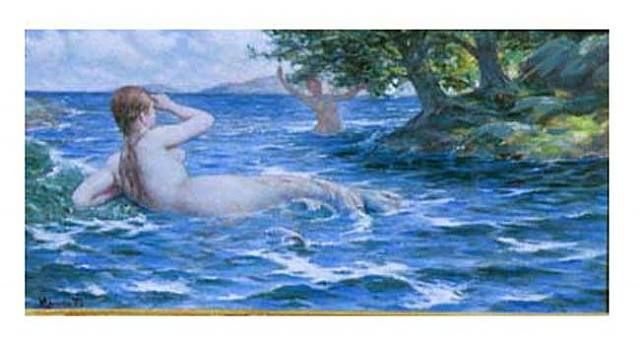 Mermaid Beckons - George Willoughby Maynard