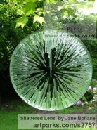 Mirrored stainless steel. float glass. Garden Or Yard / Outside and Outdoor sculpture by sculptor Jane Bohane titled: 'Shattered Lens (glass garden sculptures)'