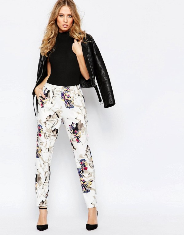 Image 1 ofY.A.S Prism Trousers in Graphic Print