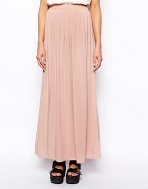 pink skirt long