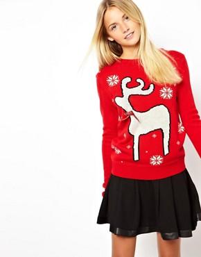 Image 1 - ASOS - Pull de Noël à motif renne