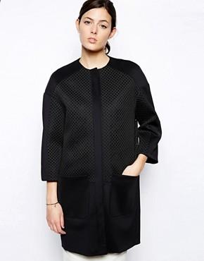 Image 1 - ASOS - Manteau cocon à empiècements oversize en tulle