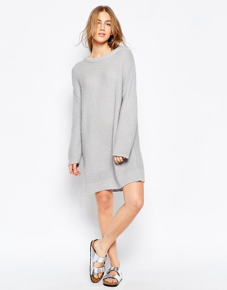 Image 4 ofASOS Oversized Jumper Dress In Chunky Knit